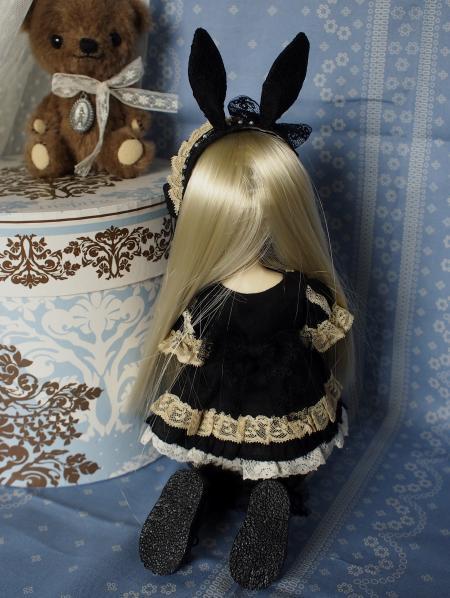 幼SD 子うさぎドレス 黒 3