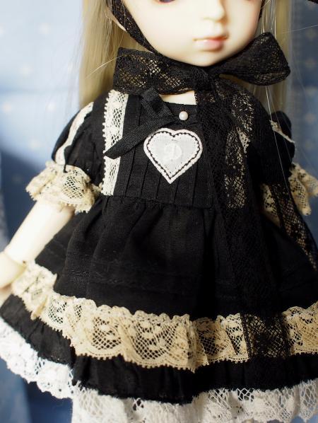 幼SD 子うさぎドレス 黒 6