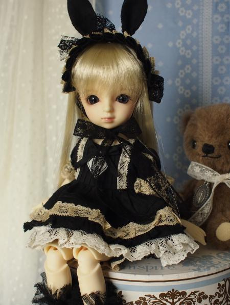 幼SD 子うさぎドレス 黒 10