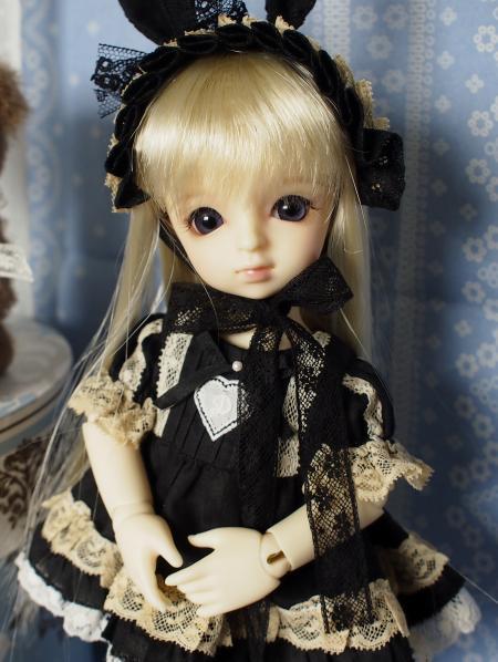幼SD 子うさぎドレス 黒 11