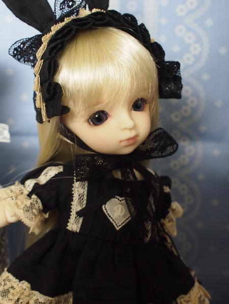 幼SD 子うさぎドレス 黒 12