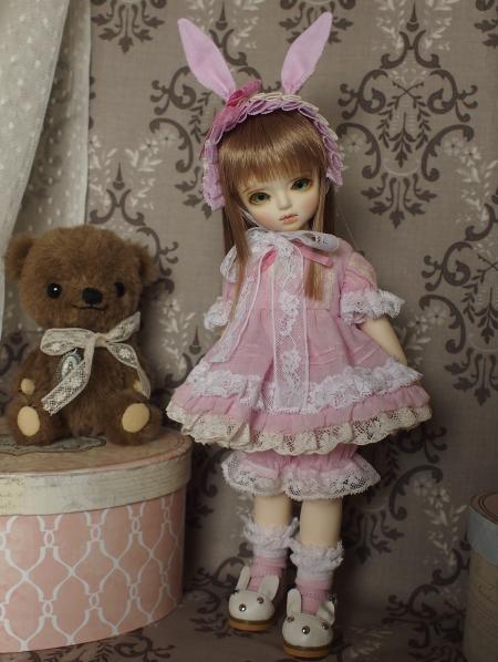 幼SD 子うさぎドレス ピンク 1