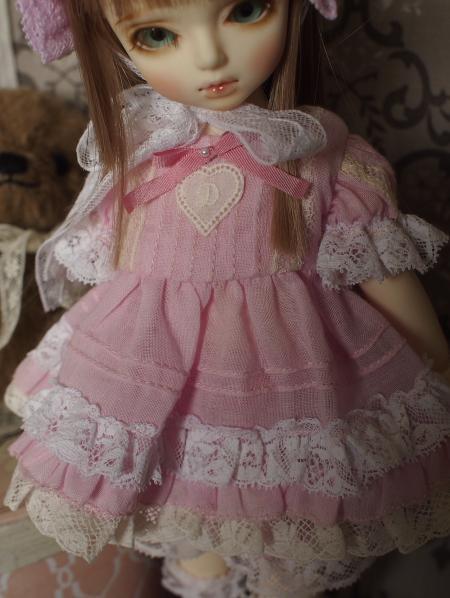 幼SD 子うさぎドレス ピンク 6