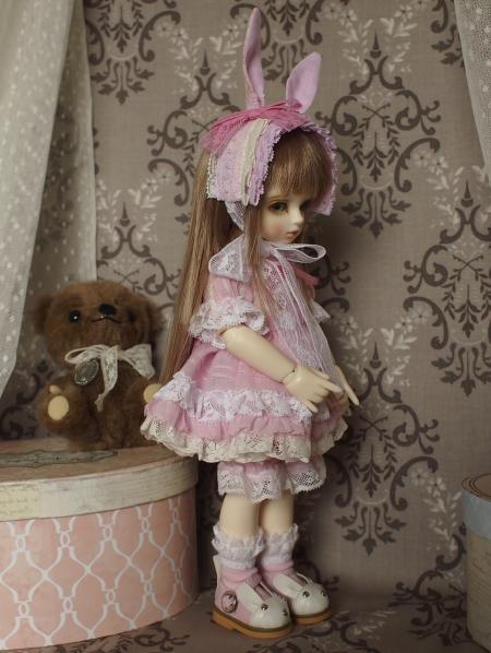 幼SD 子うさぎドレス ピンク 2