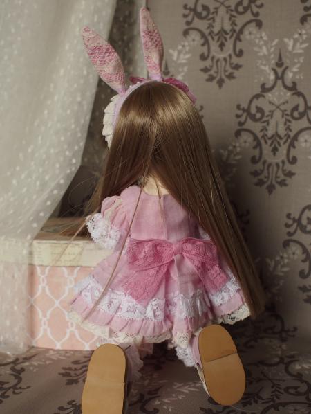 幼SD 子うさぎドレス ピンク 3
