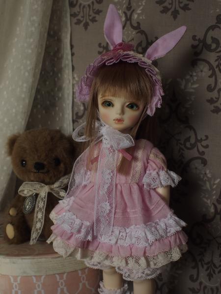 幼SD 子うさぎドレス ピンク 10
