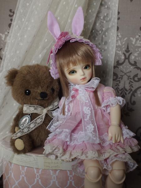 幼SD 子うさぎドレス ピンク 12