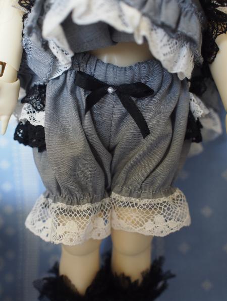 幼SD 子うさぎドレス グレー 4