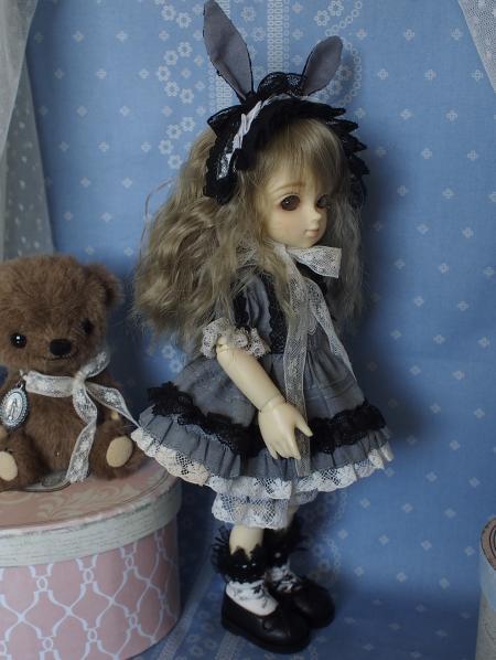 幼SD 子うさぎドレス グレー 8