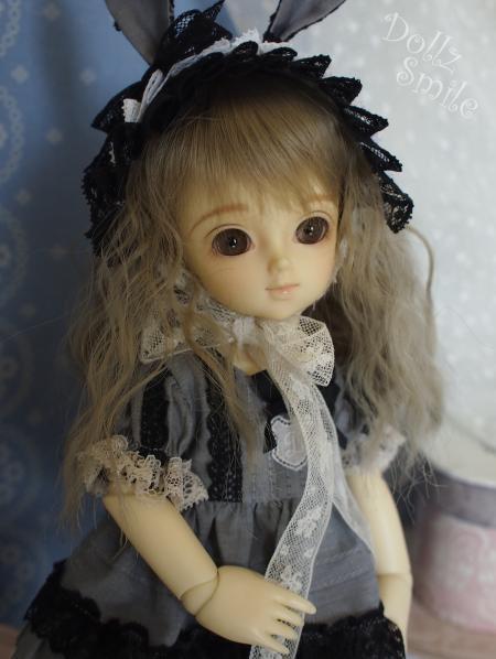 幼SD 子うさぎドレス グレー 10