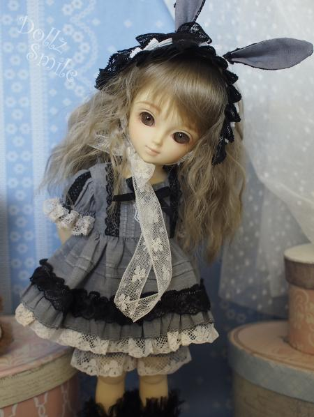 幼SD 子うさぎドレス グレー 11
