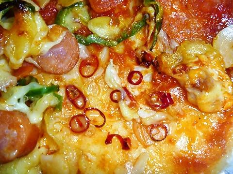 ピザ・アリオの「スパイシーミックス」 水ほしいー
