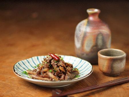 たたき牛蒡と牛肉の甘辛煮28