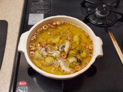 牡蠣のアヒージョ11
