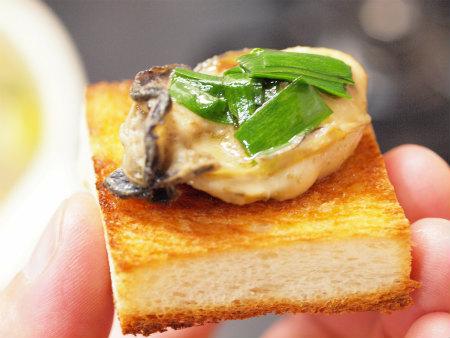 牡蠣のアヒージョa13