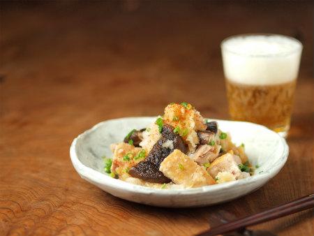 焼き椎茸と鶏のおろしポン酢23