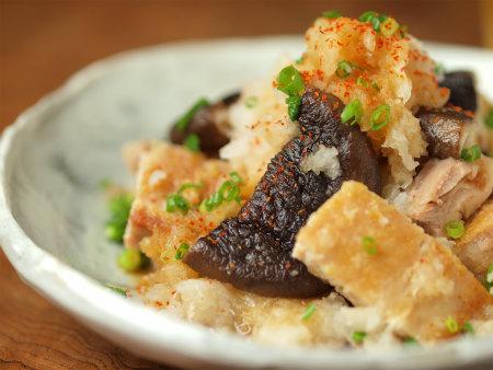 焼き椎茸と鶏のおろしポン酢26