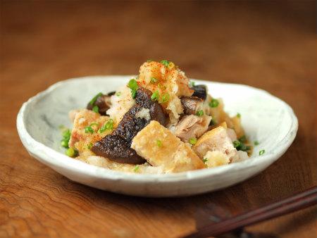 焼き椎茸と鶏のおろしポン酢30