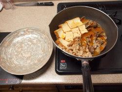あさりと厚揚げのピリ辛煮09