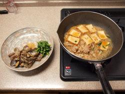 あさりと厚揚げのピリ辛煮14