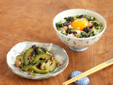 海苔ラー油野沢菜卵かけ飯08