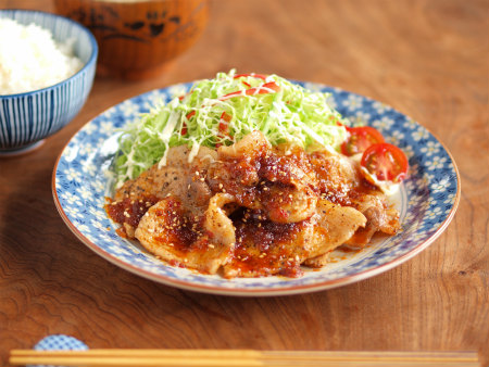 ピリ辛生姜焼き1m01