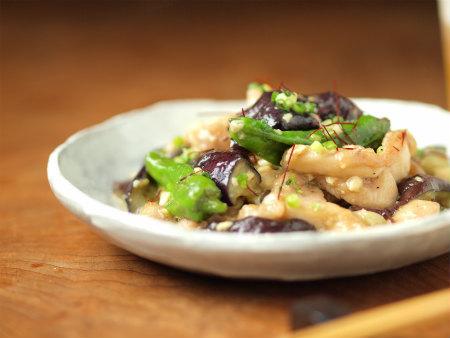 茄子と鶏の味噌炒め31