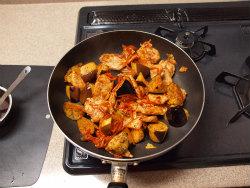 鶏キムチ炒め08