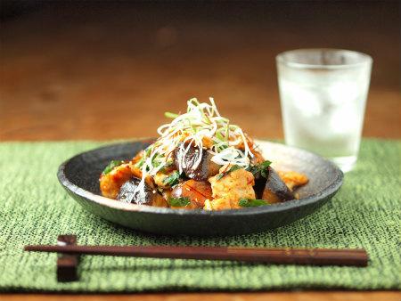 鶏キムチ炒め34