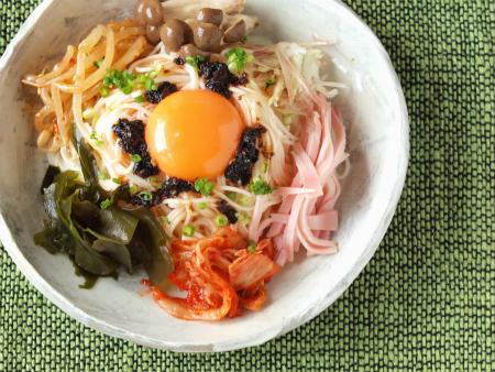 海苔ラー油で七夕素麺02