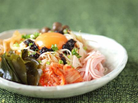 海苔ラー油で七夕素麺06
