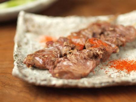 鶏ハツ串焼き14