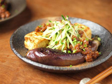 豆腐と茄子のステーキ19