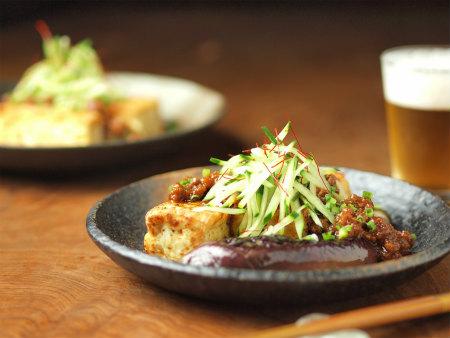 豆腐と茄子のステーキ30