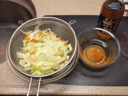 鶏肝オイル煮とキャベツ甘酢08