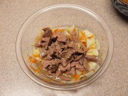 鶏肝オイル煮とキャベツ甘酢13
