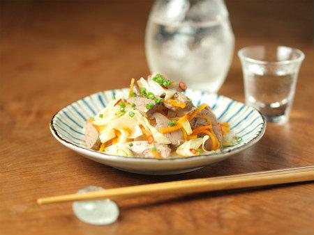 鶏肝オイル煮とキャベツ甘酢30
