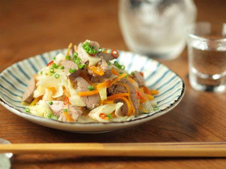鶏肝オイル煮とキャベツ甘酢28