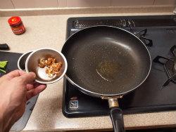 にんにくの芽と鶏胸の牡蠣油07