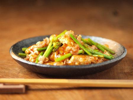 にんにくの芽と鶏胸の牡蠣油21