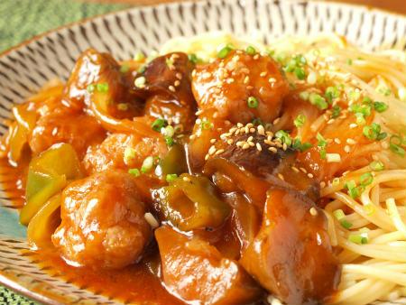 エビ入り肉団子中華風パスタ33