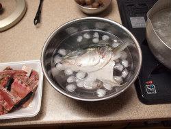 ブリあらと蒟蒻ピリ辛煮09