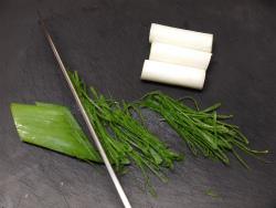 鮭と椎茸のキムチ焼き作り方02