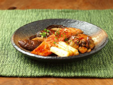 鮭と椎茸のキムチ焼き08