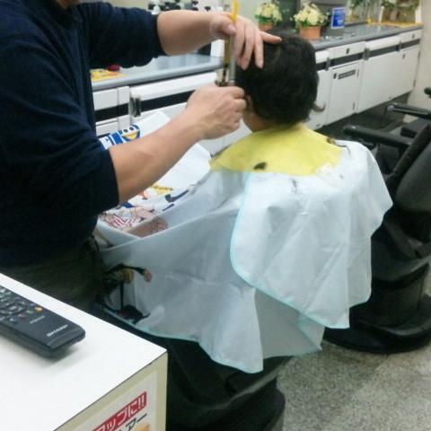 初めての散髪