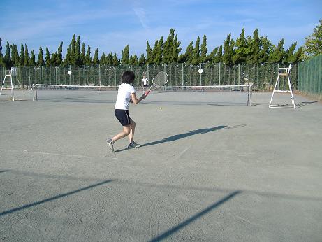 テニスの練習20120823