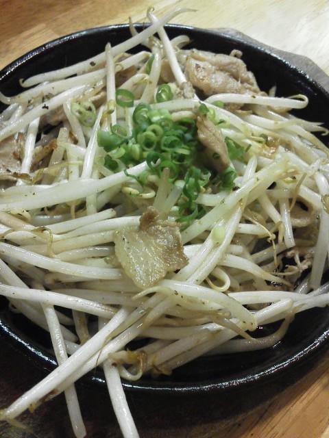 肉モヤシ炒め