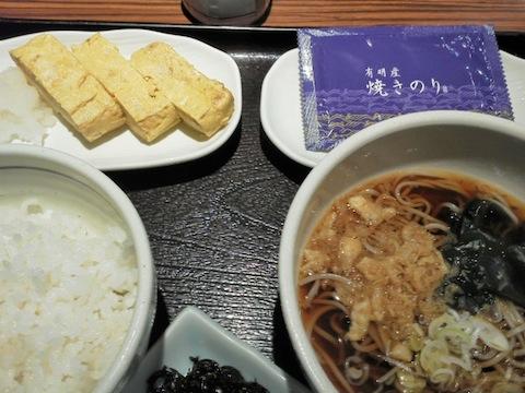 弁天庵の卵焼き朝食