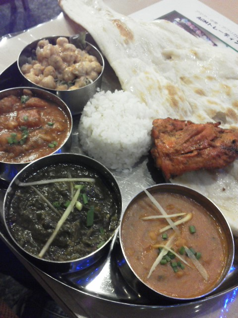インド料理屋のセット