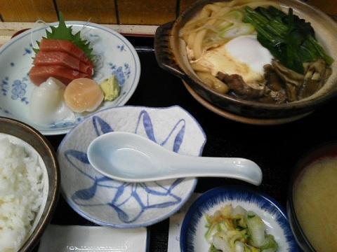 肉豆腐・刺身定食
